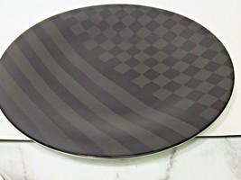 Vtg Hutschenreuther Design K Dombrowski Op Art Modernist Two Toned Black Charger - $53.46