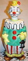 "Vintage Clown Liquor Decanter 1950's Ceramic Bar-Ware 8""H - $27.50"