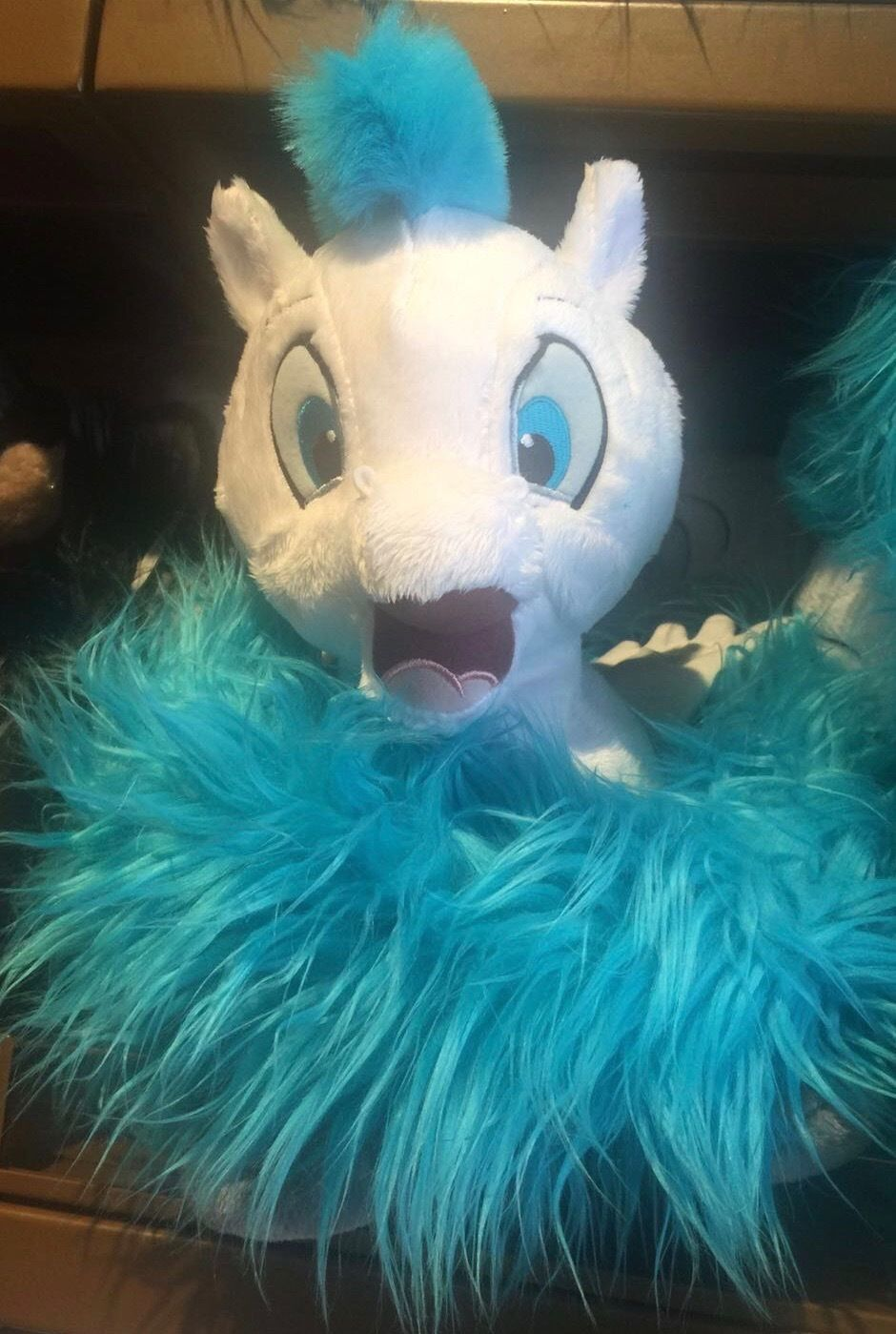 Disney Parks Pegasus Long Tail Scarf Plush New with Tags