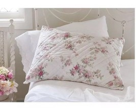 New Simply Shabby Chic Quilted White Blooming Blossoms Standard Pillow Sham - $17.99
