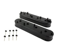 GM LSX Fabricated Valve Covers 6061-T6 Aluminum with Coil Mounts Black