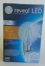 GE Lighting 37304  3.2W Reveal LED G25 Dimmable Light Bulb Long Life Low Energy - $11.29