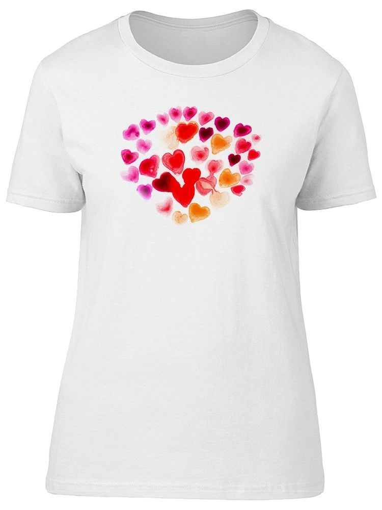 Primary image for Watercolor Hearts, Red, Pink Women's Tee -Image by Shutterstock