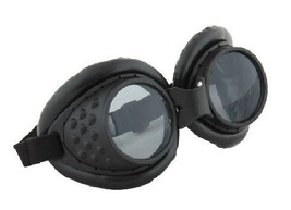 SteamPunk Cosplay Radioactive Style Black Lab Goggles, NEW UNUSED - $16.30