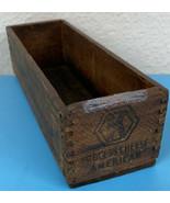 Kraft Brick  American Pasteurized Process Cheese Wood Box 2 lb Vintage R... - $24.85