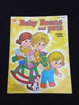 1978 Original Whitman Baby Beans And Pets Mattel Baby Doll Paper Dolls U... - $13.98