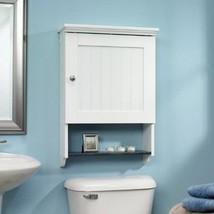 Wall Mounted Medicine Cabinet Bathroom Storage Organizer Soft White Adju... - $84.98