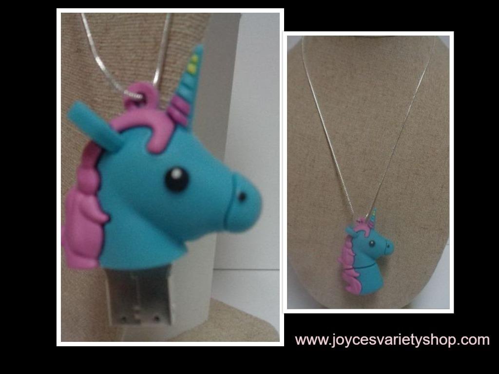 Web rainbow pony necklace collage