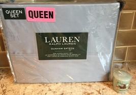 Polo Ralph Lauren Dunham Queen Sheet Set MIST Blue Fast Ship Priority Ma... - $79.19