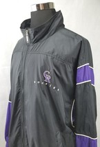 Vintage 90s Colorado Rockies Starter Black Jacket Windbreaker Men's Size: XXL - $45.90