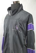 Vintage 90s Colorado Rockies Starter Black Jacket Windbreaker Men's Size... - $45.90