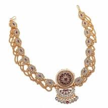 Traditional Rajasthani GoldPlated Matha Patti Minakari Sheeshphool AD/CZ... - $29.69