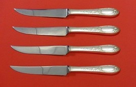 "Primrose by Kirk Sterling Silver Steak Knife Set 4pc HHWS  Custom Made 8 1/2"" - $281.30"