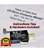 Hopper Lid Switch 80491 US Stove Breckwell Ashley King Vogelzang + Free ... - $19.95