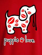 Puppie Love Rescue Dog Men Women Short Sleeve Graphic T-Shirt, Kisses Pup image 2