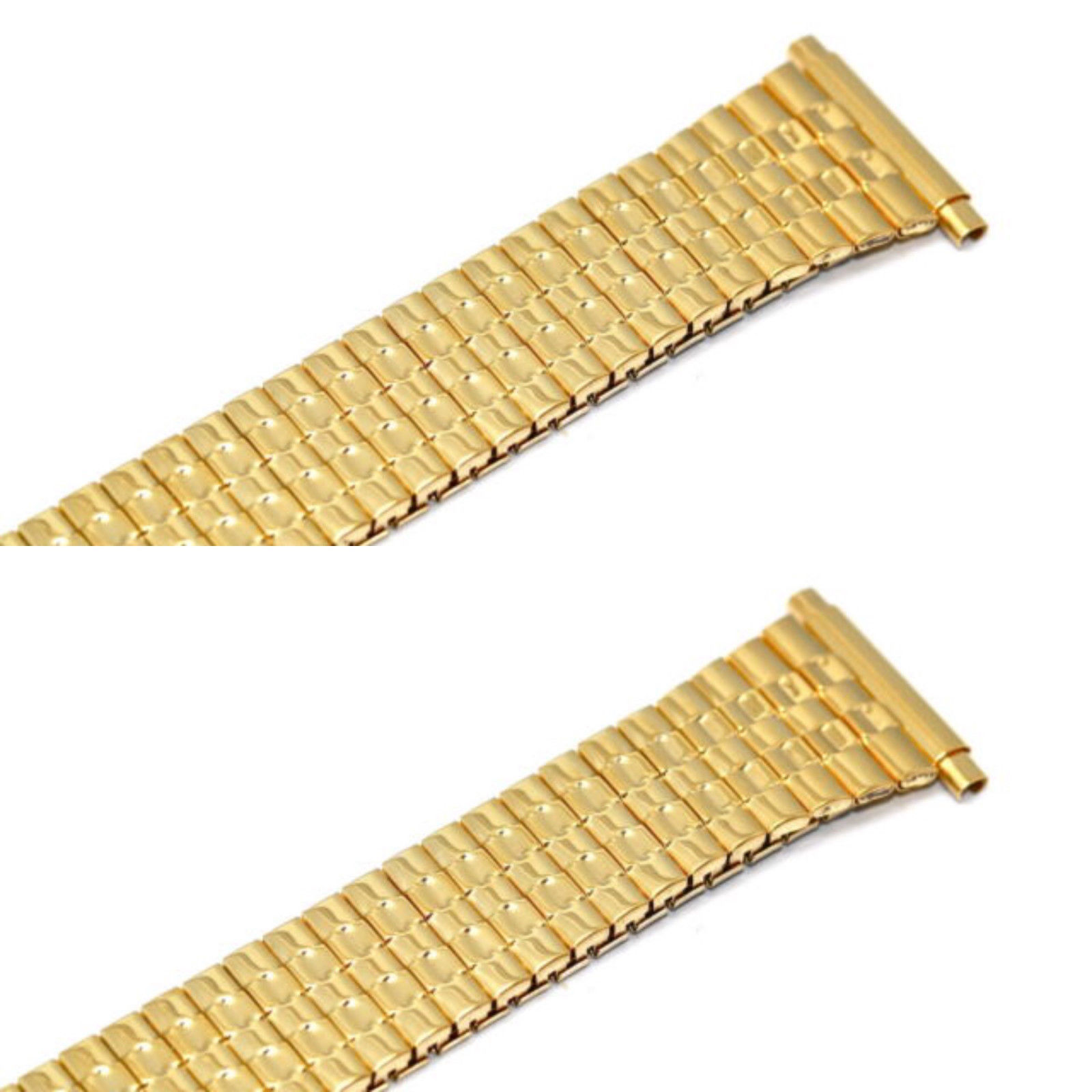 Primary image for 2 PIECES SPEIDEL 18-22MM GOLD TAPERED TWIST O FLEX EXPANSION WATCH BAND STRAP