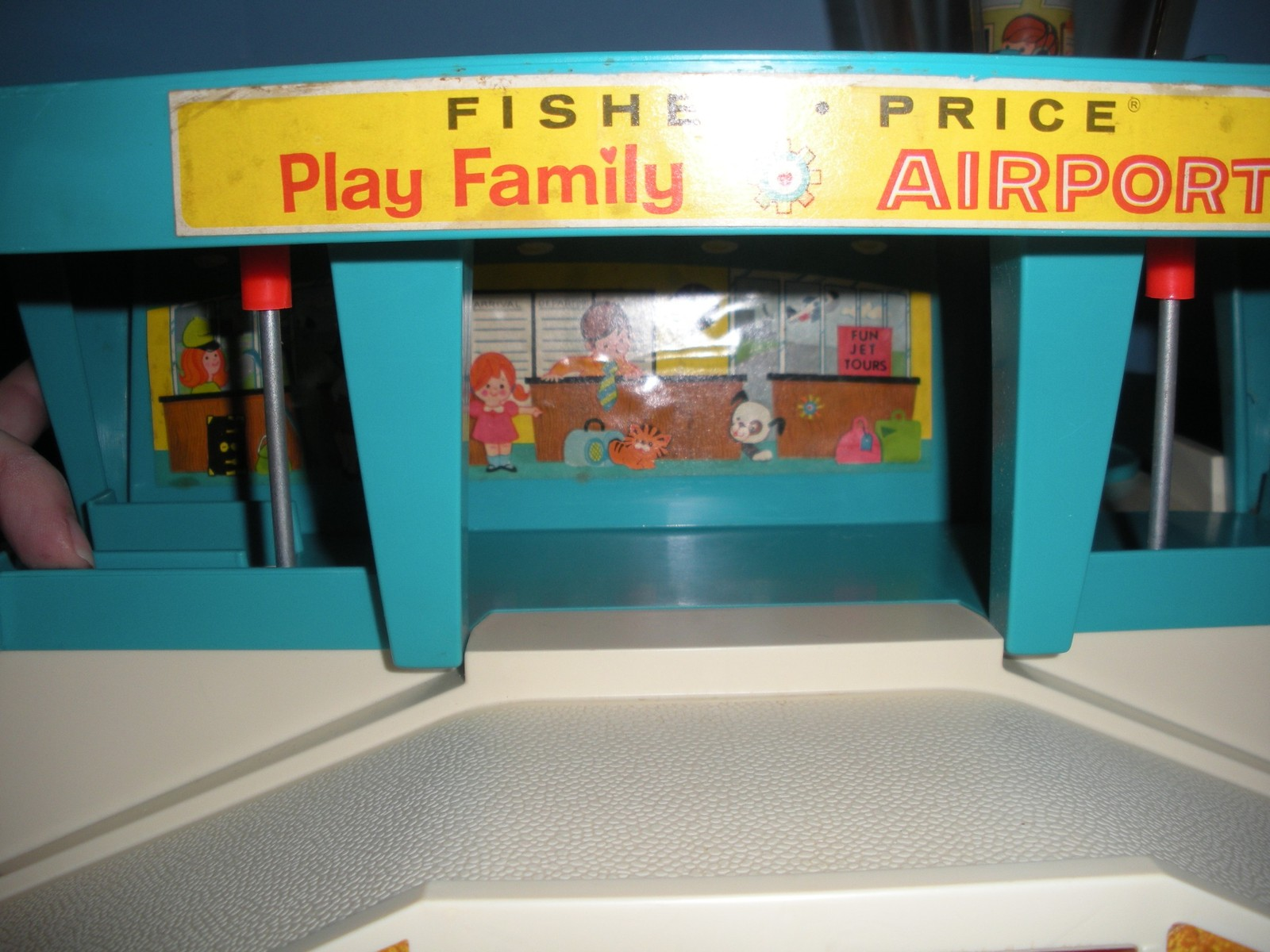 Vtg. Fisher Price Play Family #996 Airport Complete w/Box/EXC++-NEAR MINT! (U)