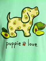 Puppie Love Rescue Dog Adult Unisex Short Sleeve Cotton Tee,Avocado Pup image 2