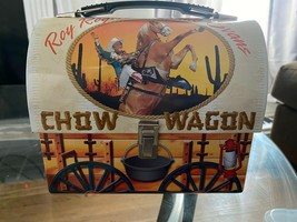 1990 Roy Rogers Dale Evans Trigger Chow Wagon Dome Top Tin Lunchbox 23076 - $35.53