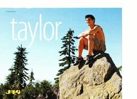 Taylor Lautner Nick Jonas teen magazine pinup clipping shirtless rock Twilight