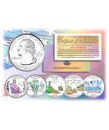 2003 US Statehood Quarters HOLOGRAM *** 5-Coin Complete Set *** w/Capsul... - €10,96 EUR