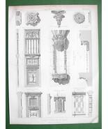 ARCHITECTURE PRINT : Paris Church of St. Etienne du Mont Interior Details - $6.42