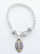 Football Purple & Yellow Crystal Bracelet Jewelry LSU Tigers - $12.65