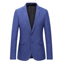 "2019 autumn single breasted men""s fashion casual stripe blazers men coat... - $77.60"