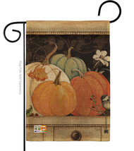 October Pumpkins Burlap - Impressions Decorative Garden Flag G163068-DB - $22.97