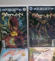 """Batman #21 & 22 & Flash #21 & 22 """"The Button"""" 3-D Lenticular Covers Set - $93.00"""