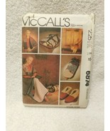Mccalls 6874 Easy Gift Energy Saver Slippers Quilt Jacket Sewing Pattern - $10.88