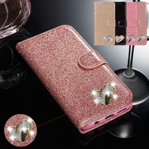 Glitter Sparkly Wallet Case Stand Cover for Samsung Galaxy Note 10 Plus S10 9 8 - $62.45