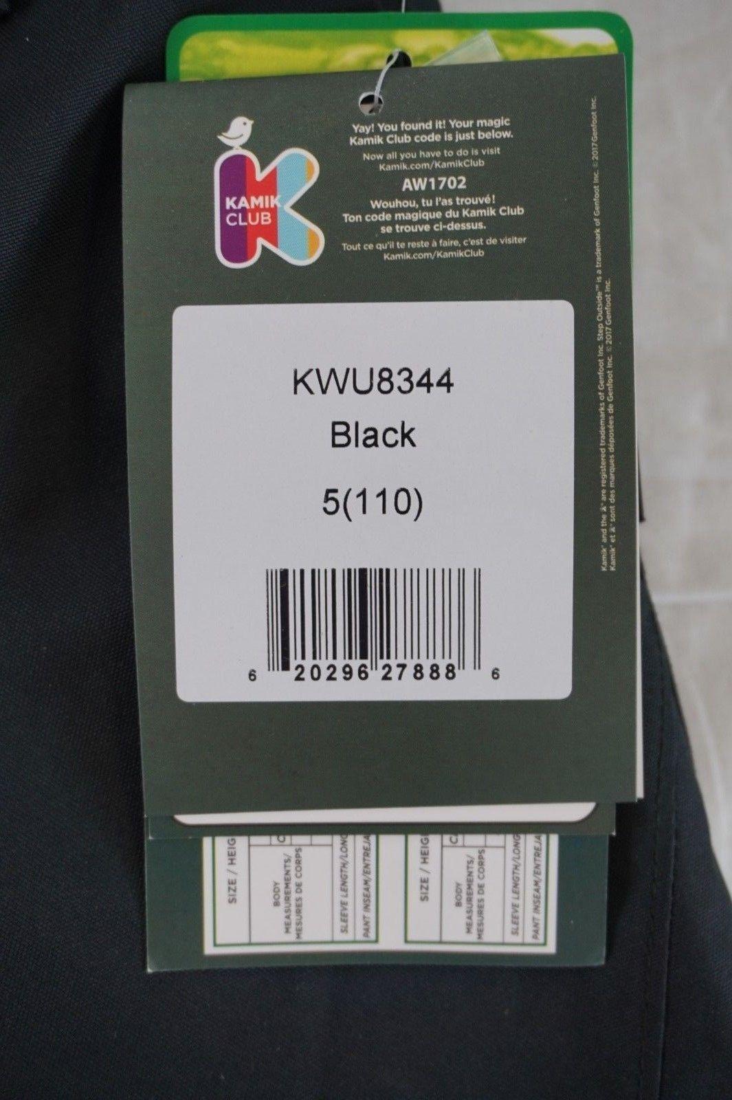 NWT Kamik Kids Black or Navy Blue Waterproof Ski Snow Bib Pants 4, 5, 6