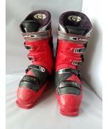 Lange G Max 7 Red Ski Boots Size 9.5 Micro Blade Max Matic Impulse Response - $130.08