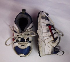 Nike Baby Boy Toddler Sz 4C Athletic Shoes Non Marking Sole White Blue R... - $9.89