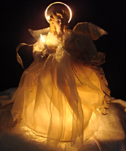 "Telco Motion-ettes porcelain Angel 14"" Tree/Table top 1997 - $34.00"