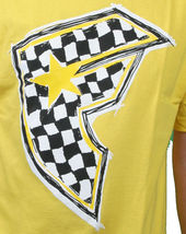 Famous Stars & Straps Yellow/Black Check It Checker BOH Badge of Honor T-Shirt S image 3