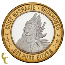 Chief Washakie Shoshones Native American Gaming Token 999 Silver Limited... - $59.40