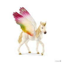 <><  70577 Winged rainbow unicorn foal  horse Bayala The World of Elves ... - $8.80