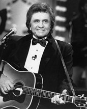 Johnny Cash 16X20 Canvas Giclee 1980'S In Tuxedo Holding Guitar - $69.99