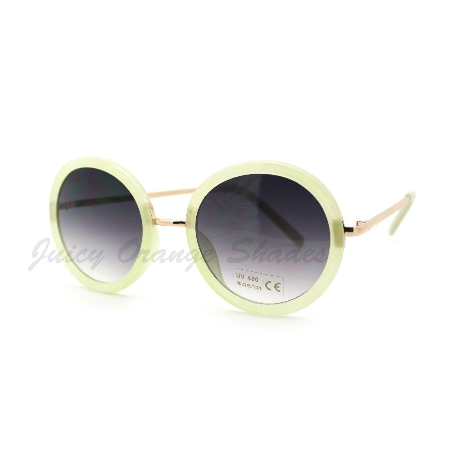 Vintage Retro Round Circle Sunglasses Womens Fashion Eyewear