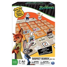 Spin Master 37pc Disney Zootopia 2 Player Suspect Search Family Tabletop Game - $3.60