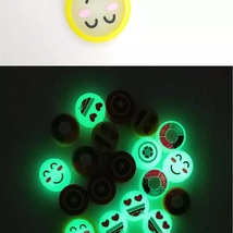 Night Light Glow in Dark Happy Face Hand Spinner - 1x w/Random Color and Design image 2