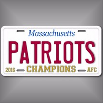 New England Patriots 2016 AFC Champions Official Sized Aluminum License ... - $12.82