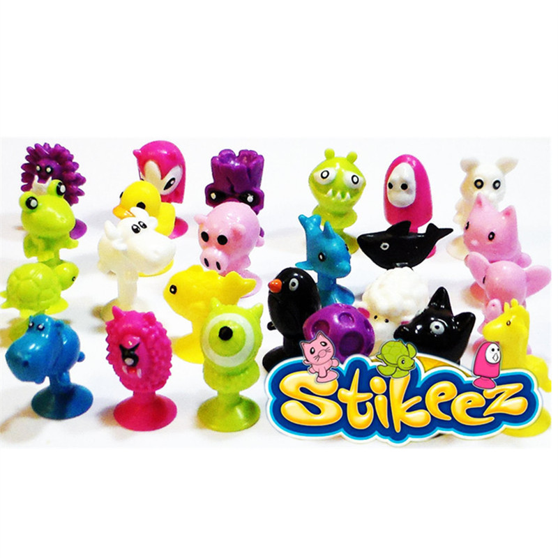 Primary image for Cartoon Animal Minifigures Stikeez toys Sucker Mini Suction Cup