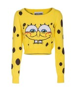 MOSCHINO Couture Longsleeve Spongebob Wool Cropped Sweater US 6 / 36 Ori... - $411.07