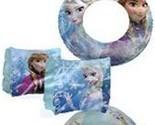 "Disney Frozen Olaf & Elsa 20"" Inflatable Beach Ball,Floating Rings,& Arm Floats"