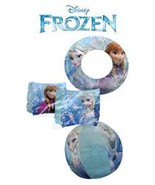 "Disney Frozen Olaf & Elsa 20"" Inflatable Beach Ball,Floating Rings,& Arm... - $27.71"