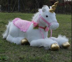 """33.5""""/85cm Jumbo Size White Unicorn Plush Toys Giant Stuffed Animal Soft Doll - $98.34"""