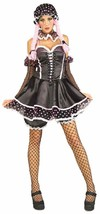 Rag Doll Girl Baby Gothic Black Pink Fancy Dress Up Halloween Sexy Adult... - $50.53